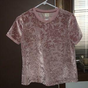 Velvet floral shirt